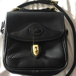 Vintage Dooney & Bourke Small Black Crossbody AWL